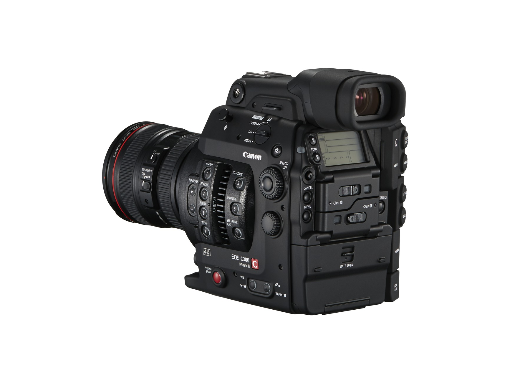 New Canon EOS C300 Mark II back left view
