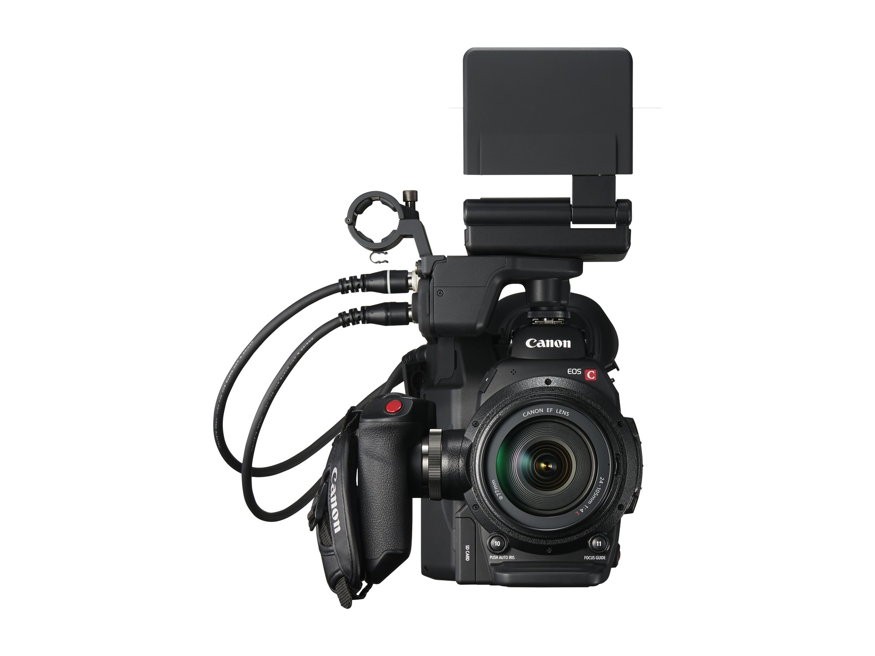 New Canon EOS C300 Mark II front lcd open