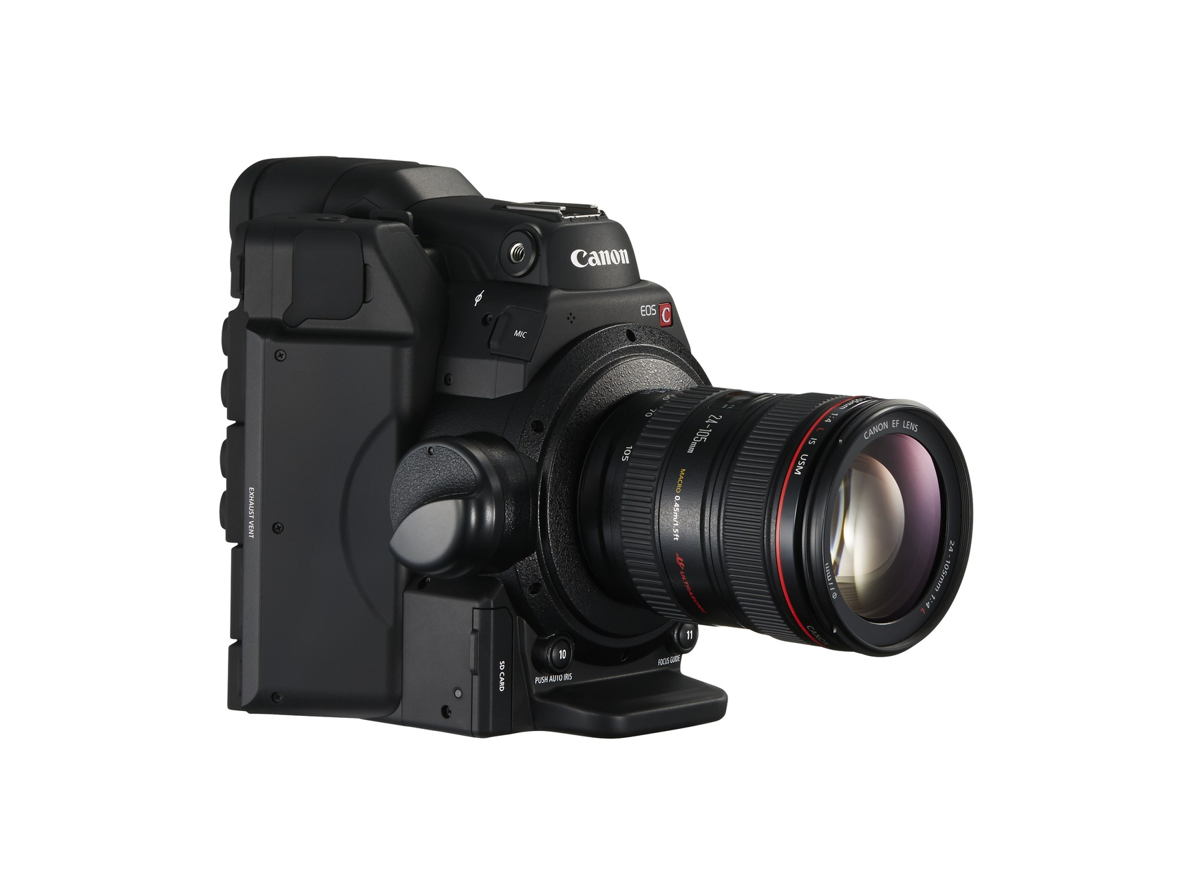 New Canon EOS C300 Mark II front right no strap