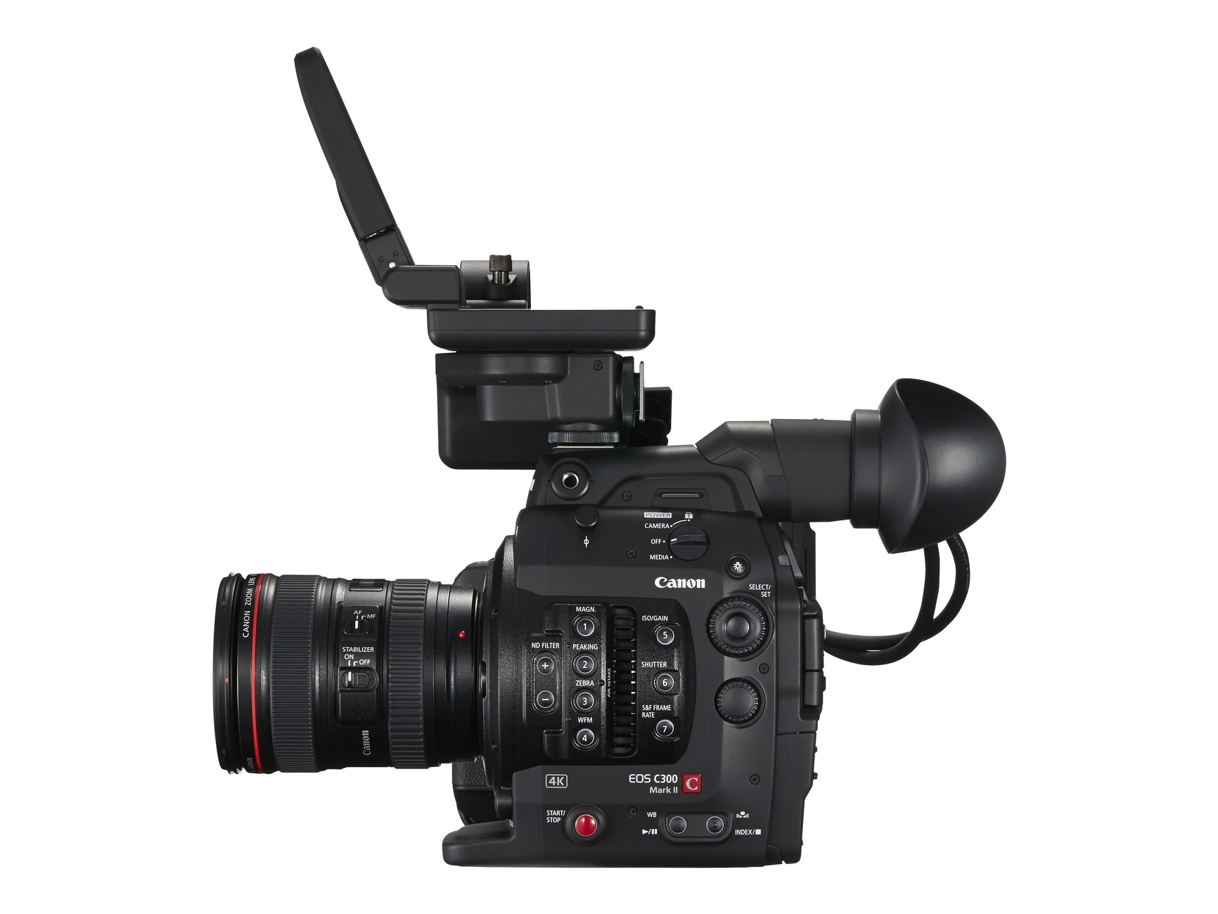 New Canon EOS C300 Mark II left with LCD up