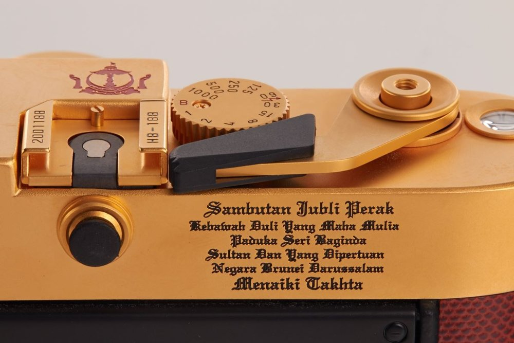 Leica M6 Gold Sultan of Brunei Luxury Cameras Enscription Cameraplex