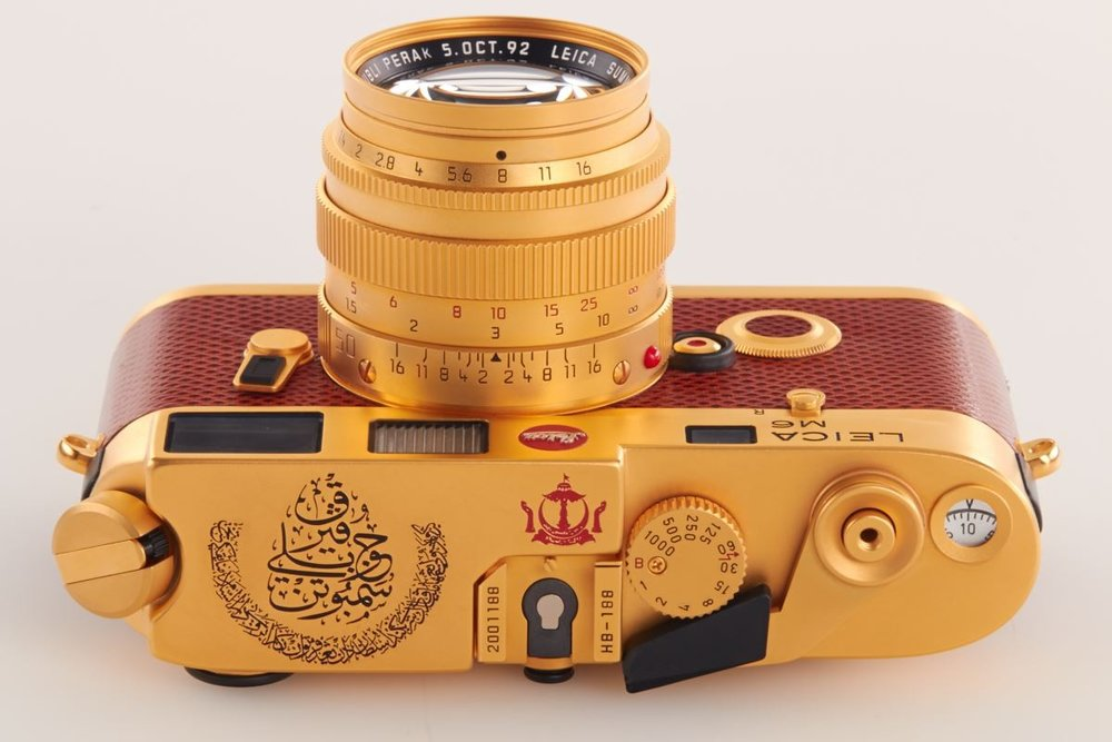 Leica M6 Gold Sultan of Brunei Shutter Dial Luxury Cameras Cameraplex