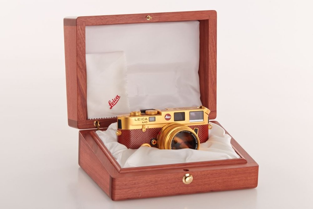 Leica M6 Gold Sultan of Brunei in Wooden Box Luxury Cameras Cameraplex
