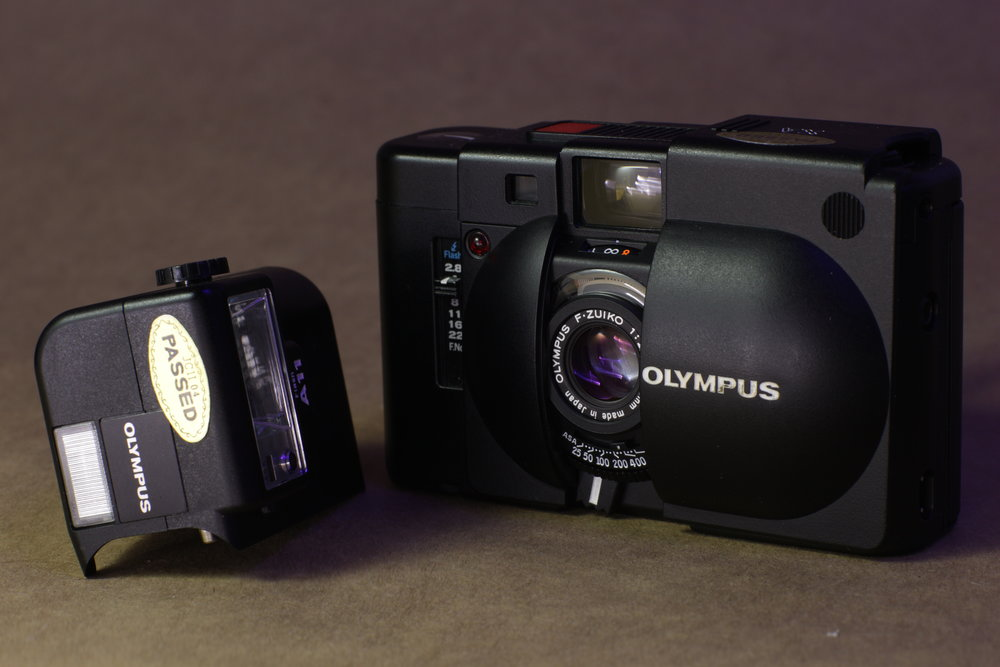 This is the actual Olympus XA that took these photos.