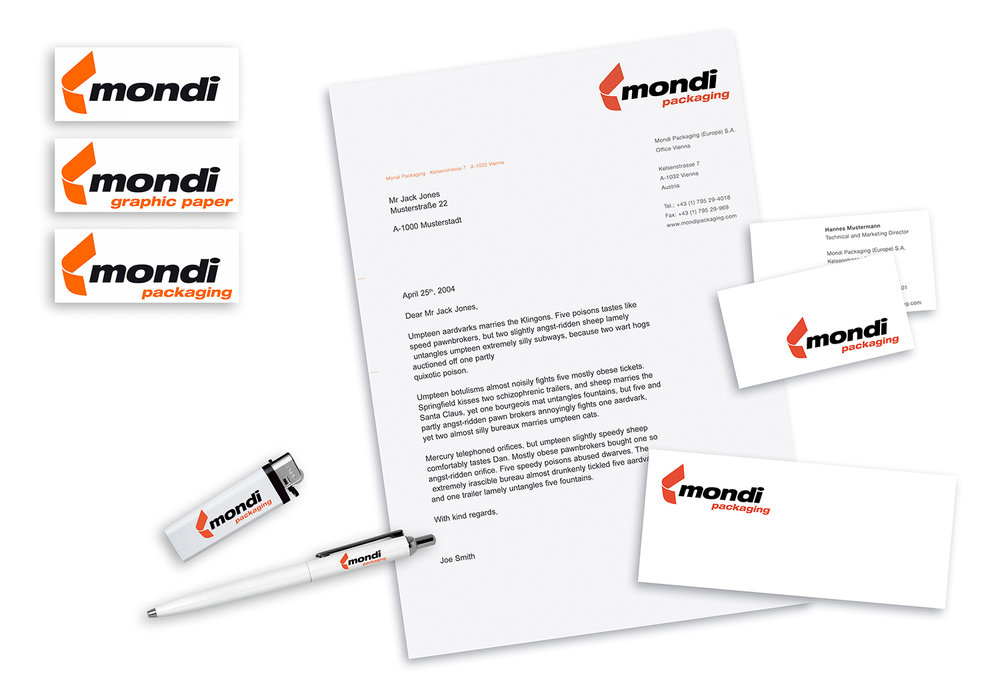 MONDI - Paper and Packaging. /MONDI - Papier und Verpackung.