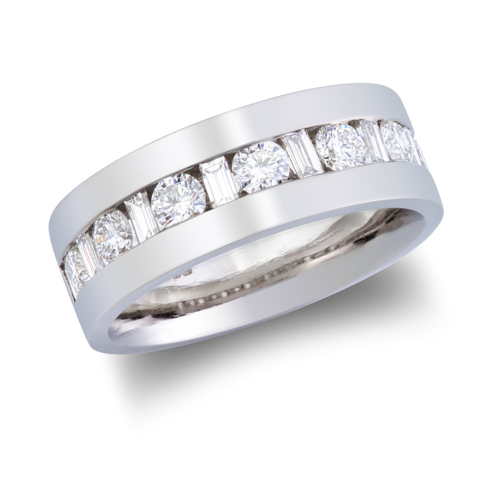 Bespoke platinum and diamond eternity ring commission