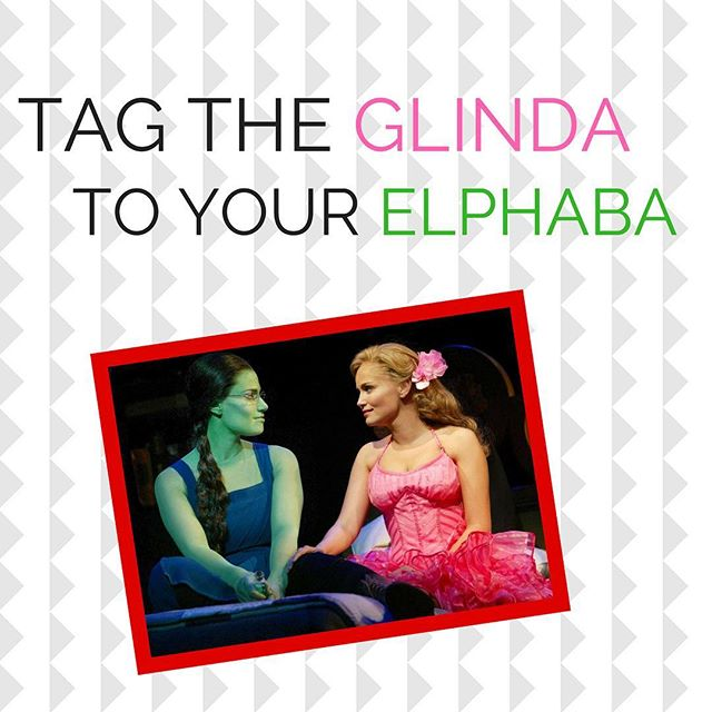 Who's your Glinda? Tag them in the comments! • • #wicked #elphaba #glinda #wickedmusical #broadway #defyinggravity