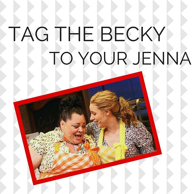 In honor of @sarabareilles taking her final bow in @waitressmusical today, tag the Becky to your Jenna in the comments below! • • #waitress #sarabareilles #waitressmusical #sheusedtobemine #ididntplanit #jessiemueller #kealasettle #broadway #musical #musicals