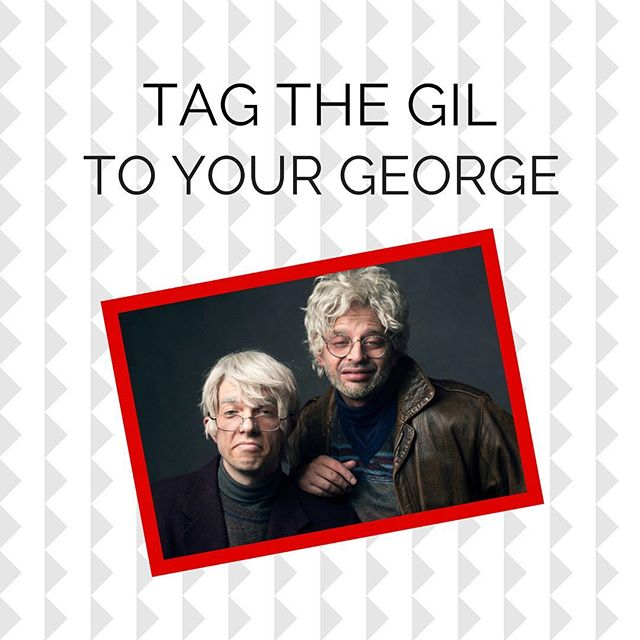 Who's the Gil to your George? Tag them in the comments! • • #ohhello #ohhelloshow #ohhellobroadway #johnmulaney #nickkroll