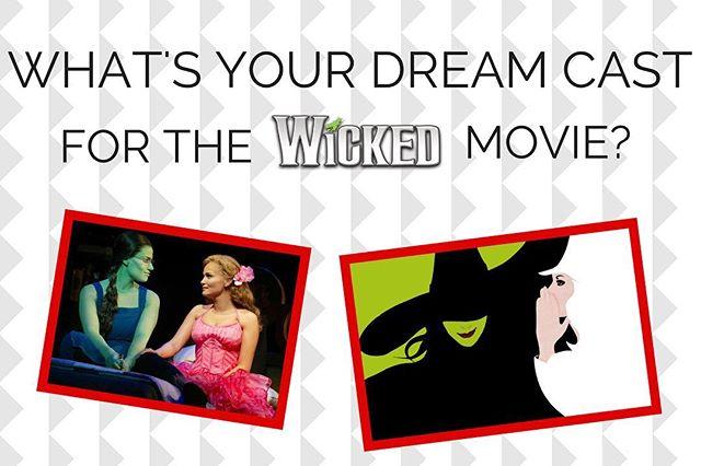 Who do you want to see in the Wicked movie? Comment/tag your dream cast! • • #wicked #wickedmusical #wickedmovie #idinamenzel #kristinchenoweth #elphaba #glinda #galinda #defyinggravity