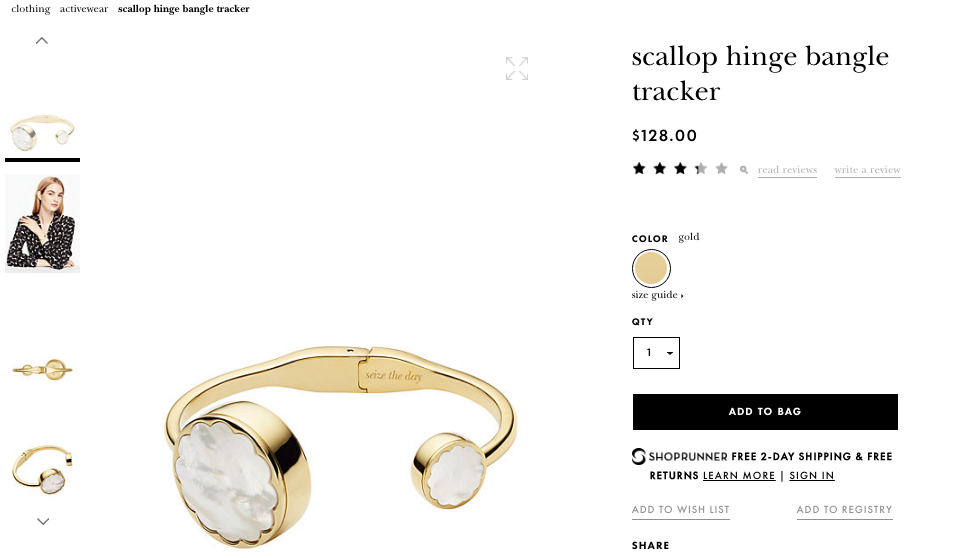 Kate Spade attempted to re-imagine Fitbit's well known activity tracker as an aesthetically pleasing bracelet.