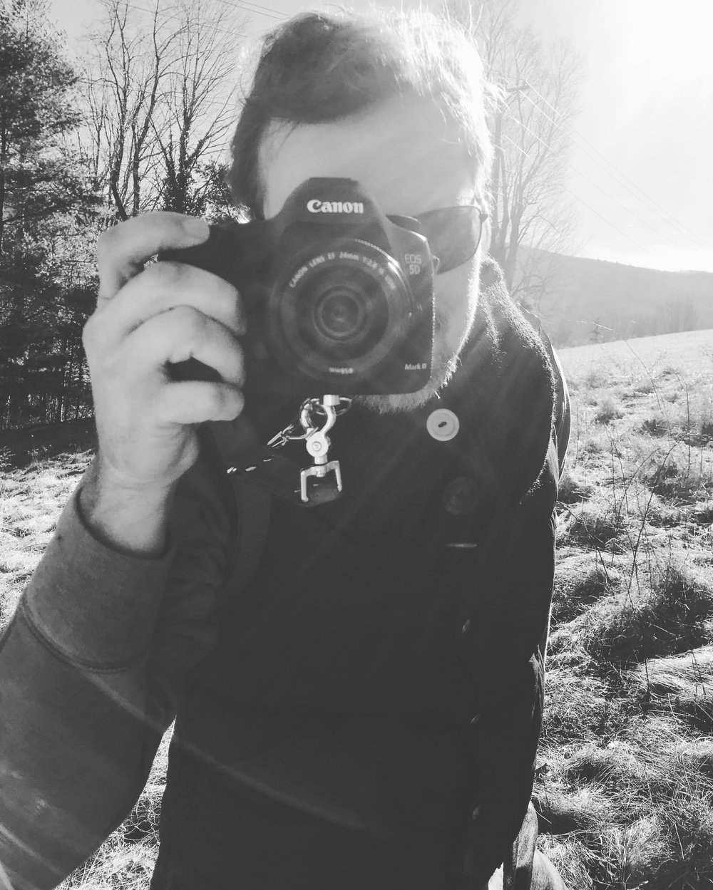 Jason behind the camera, on our Winter 2019 Styled Shoot in Virginia