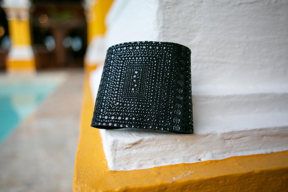 Leather cuff bracelet by  Mekunia .