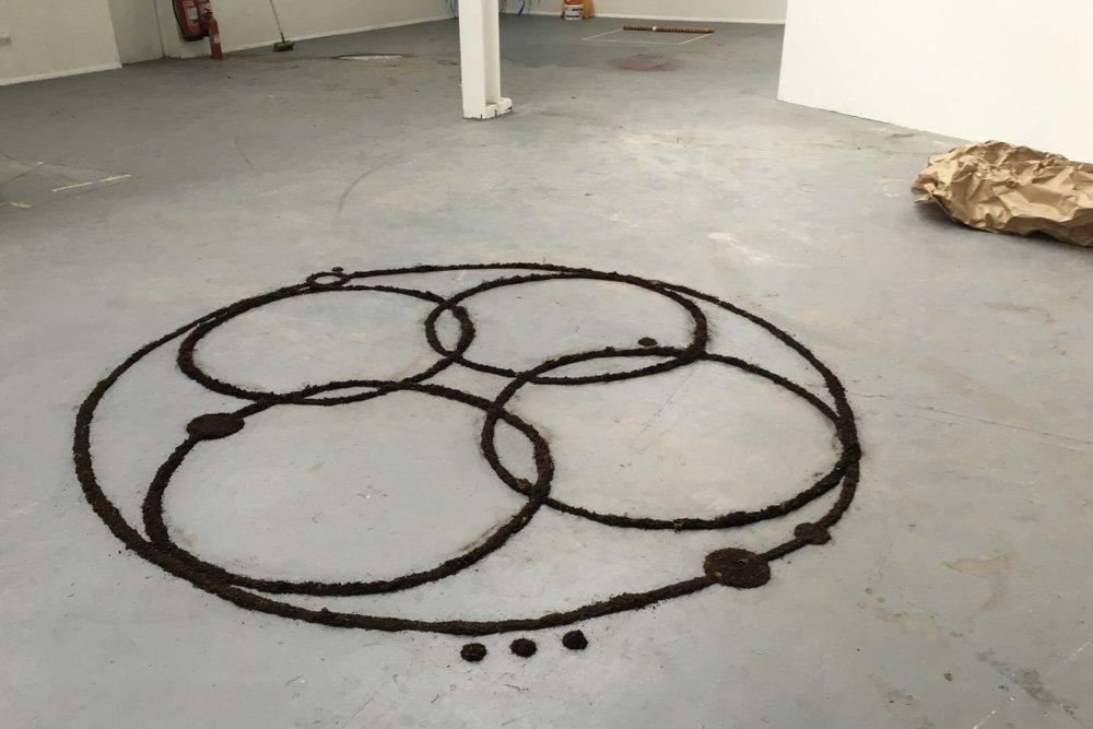 Untitled (Dirt Circle) , 2016, installation, dirt, 5000mm diameter