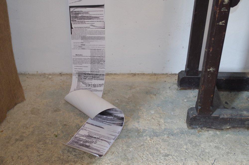 Untitled , 2016, installation, paper