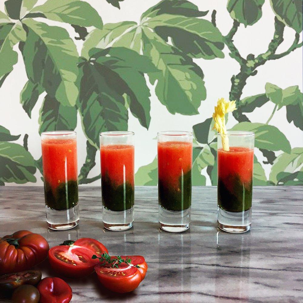 Tomato & celery shots