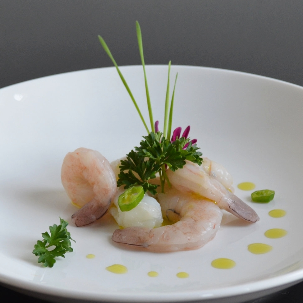 Shrimp crudo
