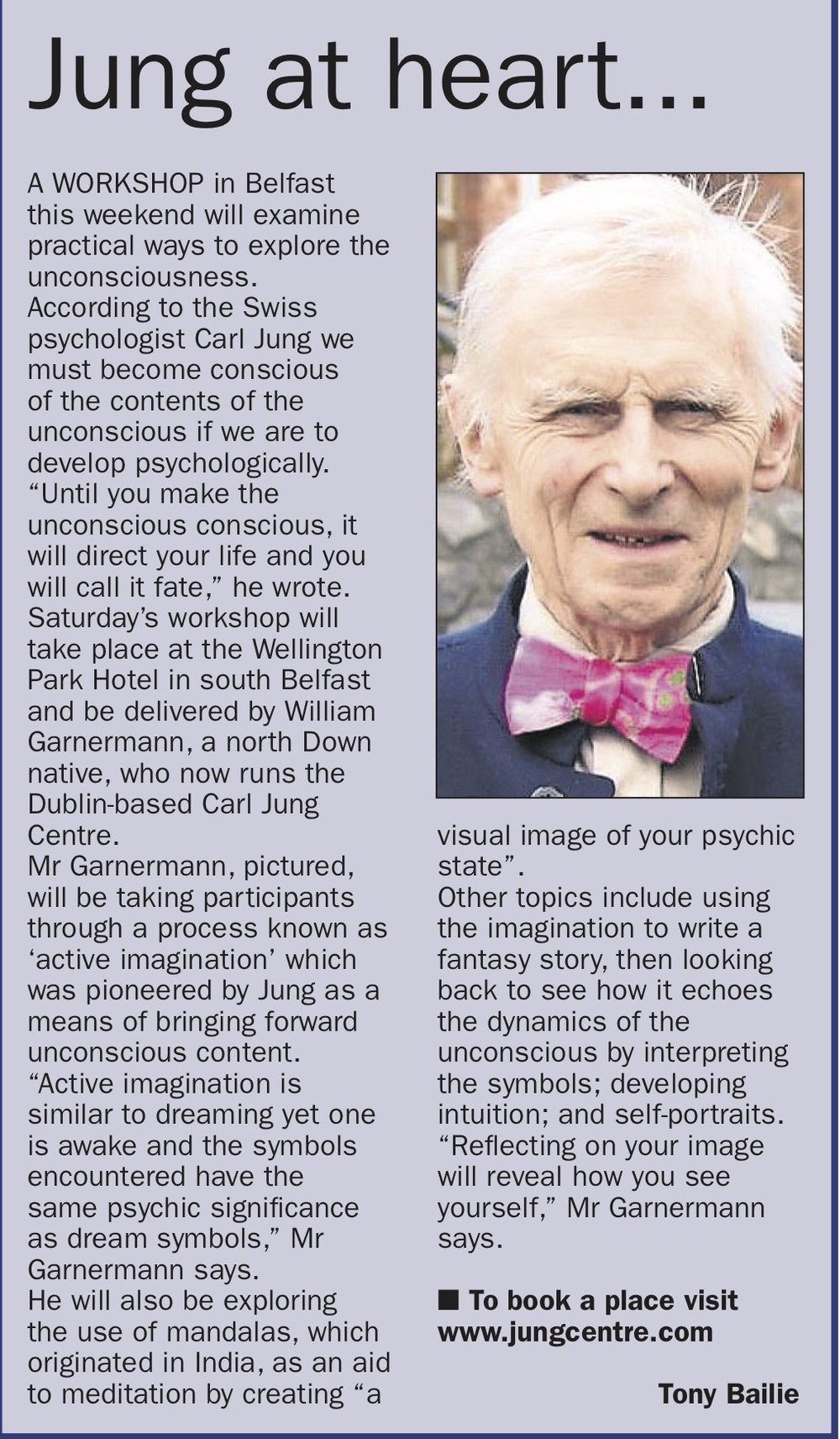 Jung at heart: Using active imagination to explore the contents of the unconscious -