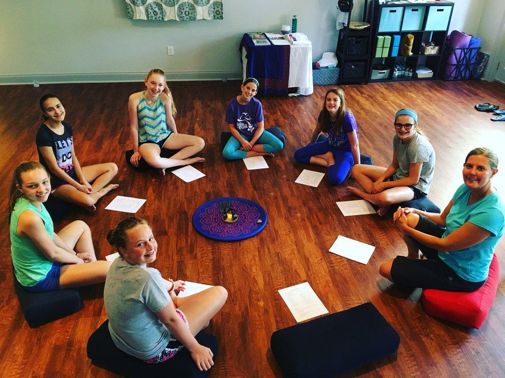 Teen Yoga Essential Oils Class @ Studio5 Yoga
