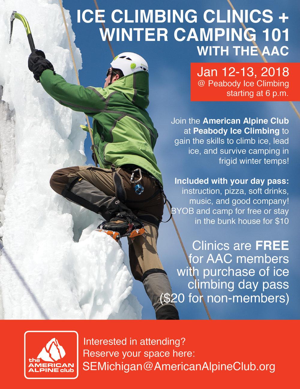 America Alpince Club clinics