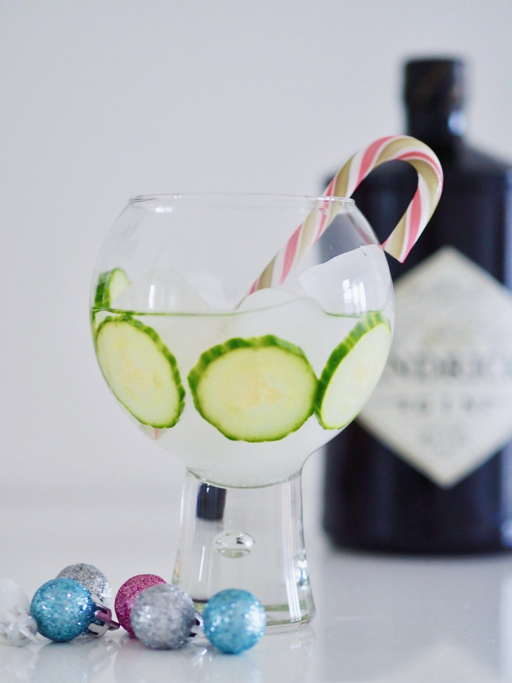Grinch gin and cucumber