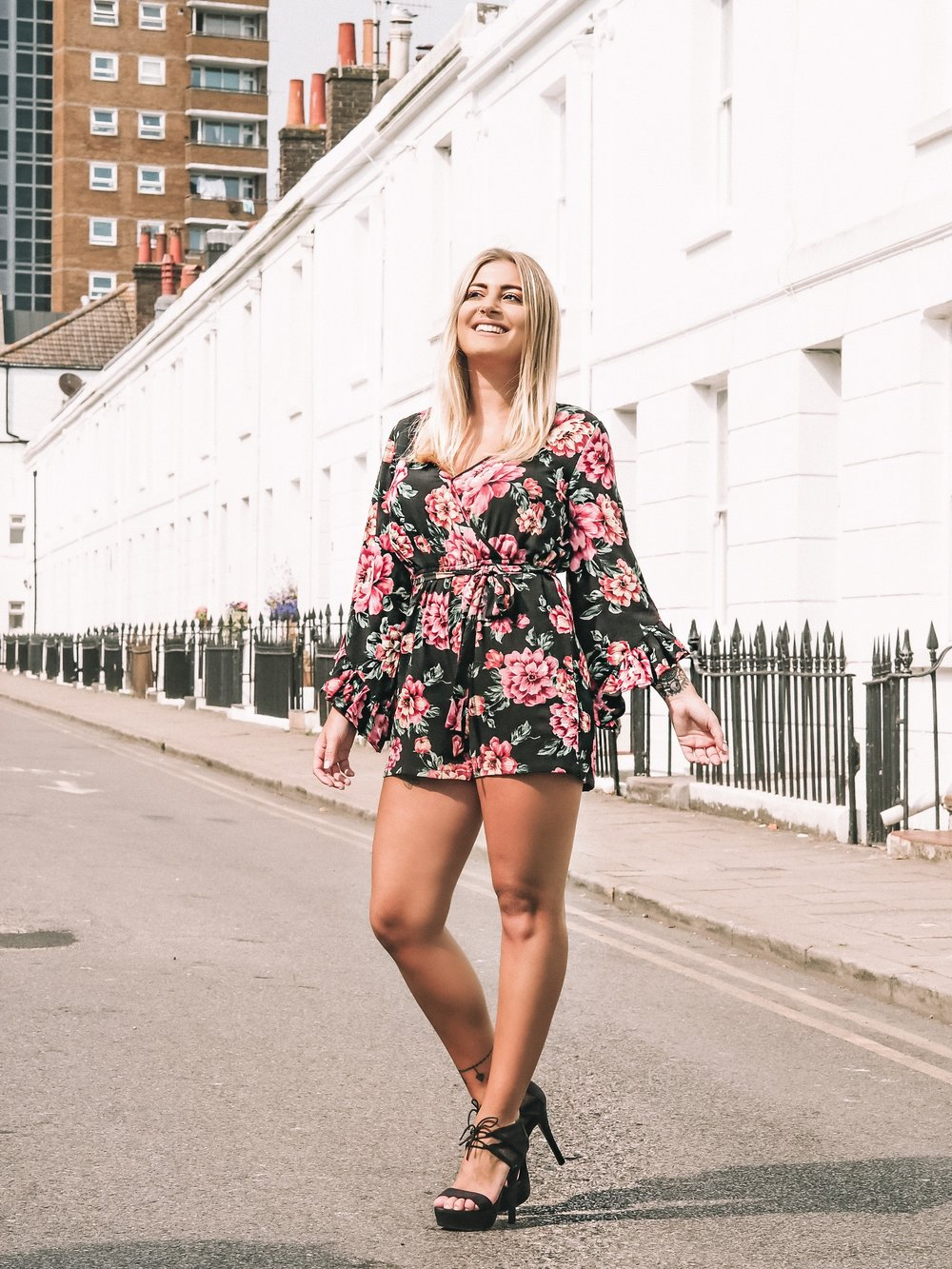 new look floral playsuit