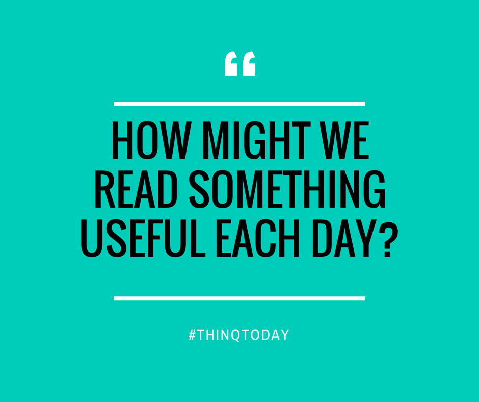 how might we read something useful each