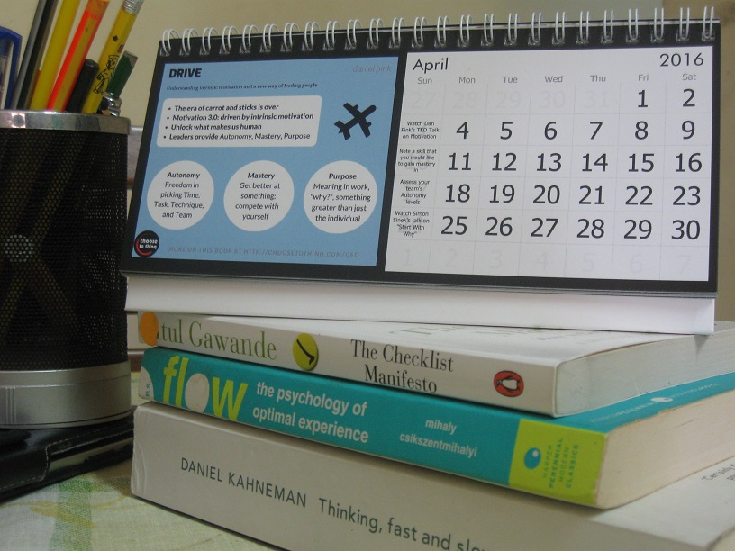 2016 Q.ED Desk Calendar