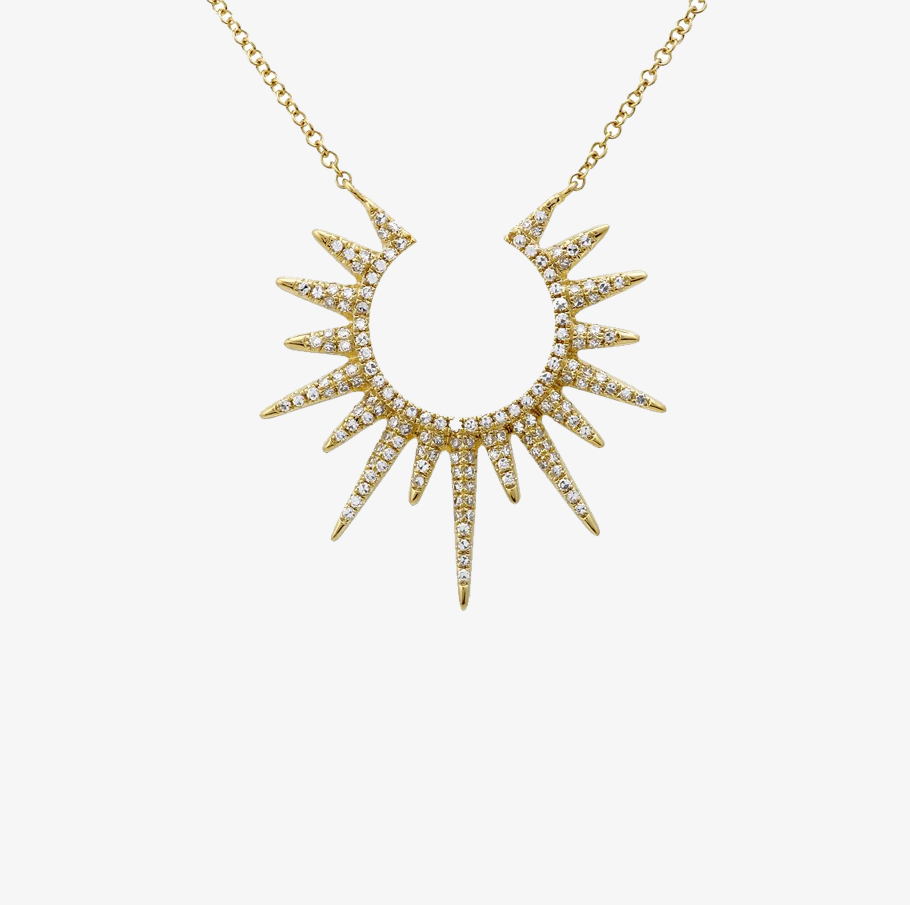 runner collection gone girl gold sunburst tr designs vermeil necklace livia cablelink