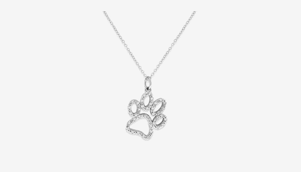 Diamond Paw Necklace - This sweet and adorable diamond paw necklace is perfect for any pet mom!Shop Now