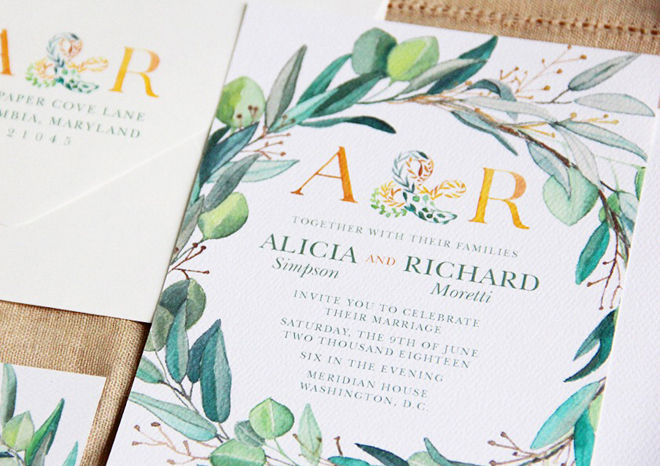 Wedding Invitations Lattice Tree Studio