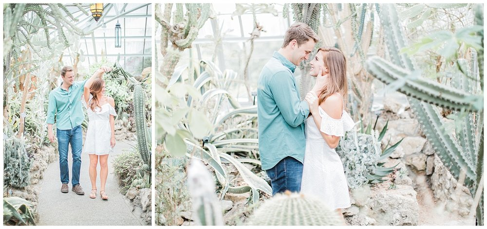 Krohn Conservatory Engagement Photo
