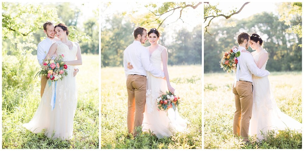 golden hour french park wedding