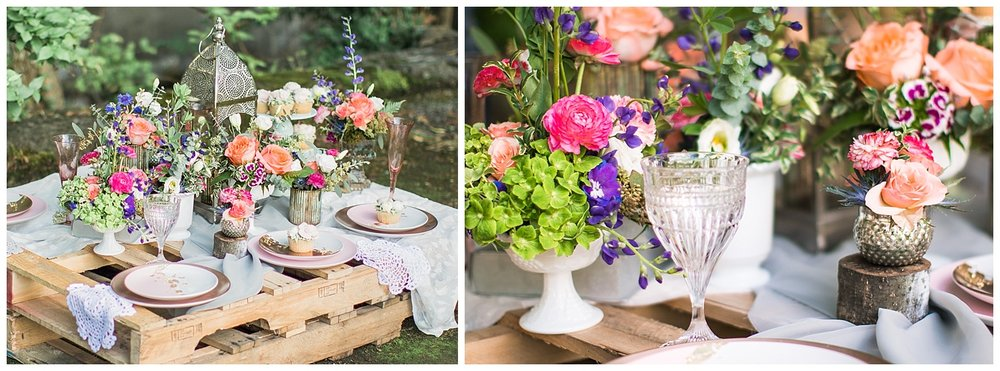 boho tea garden wedding