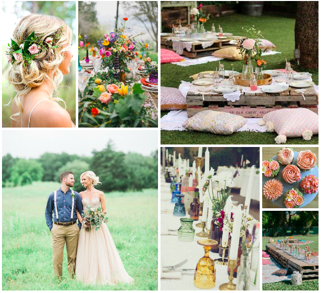 boho tea garden mood board