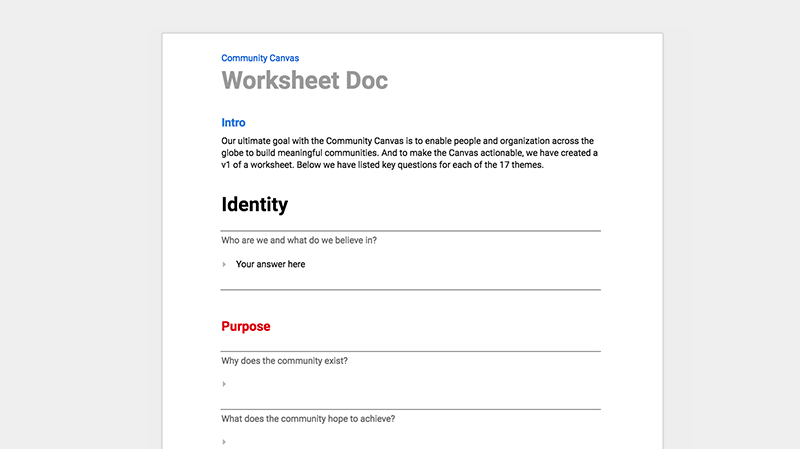 Open Google Doc