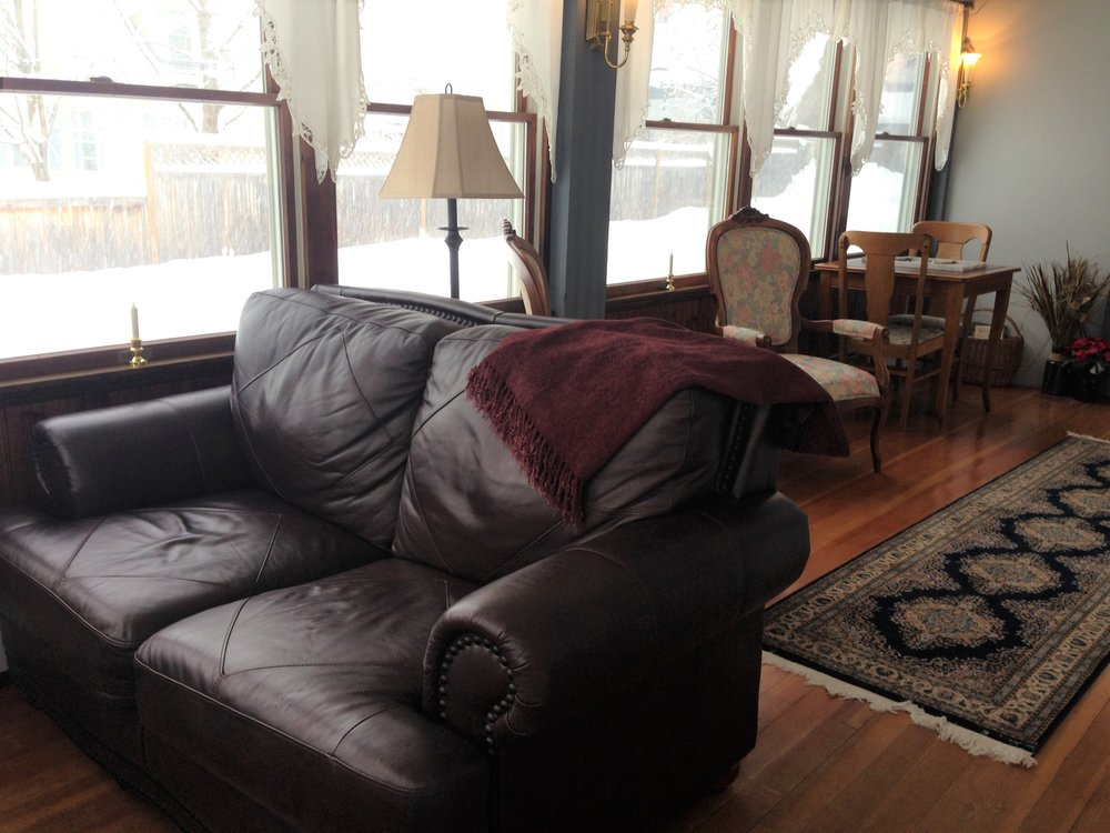 The Sunroom is the perfect spot to enjoy an early morning cup of coffee or a late afternoon glass of wine