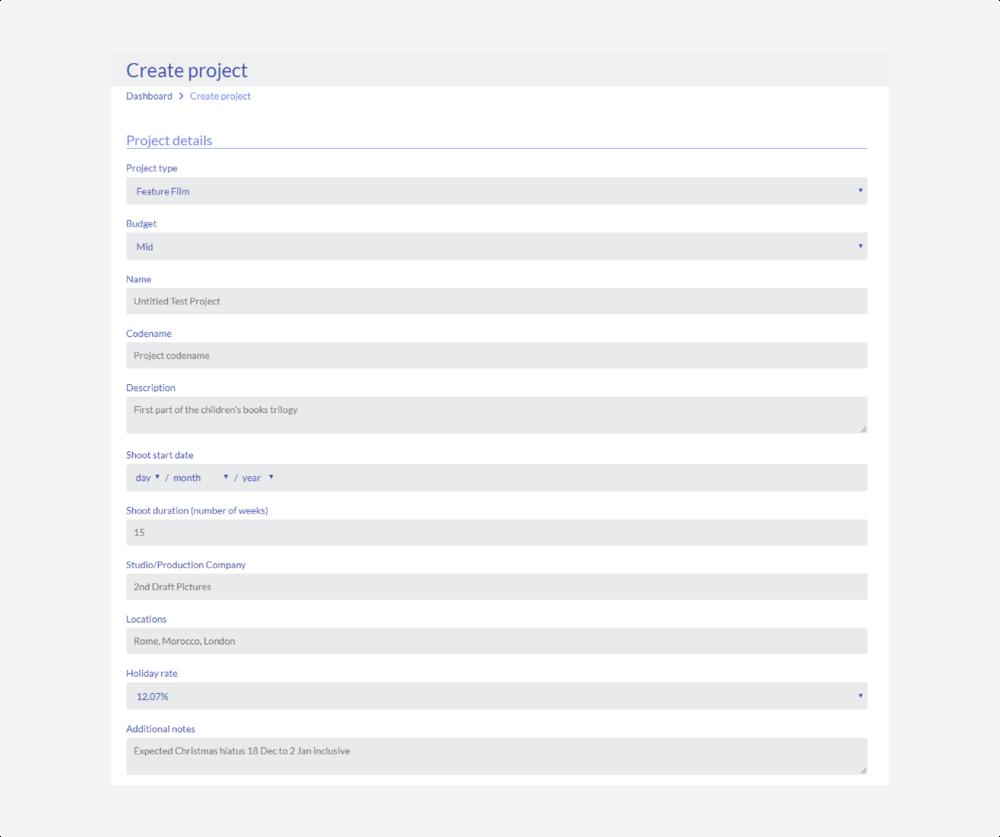project - project details