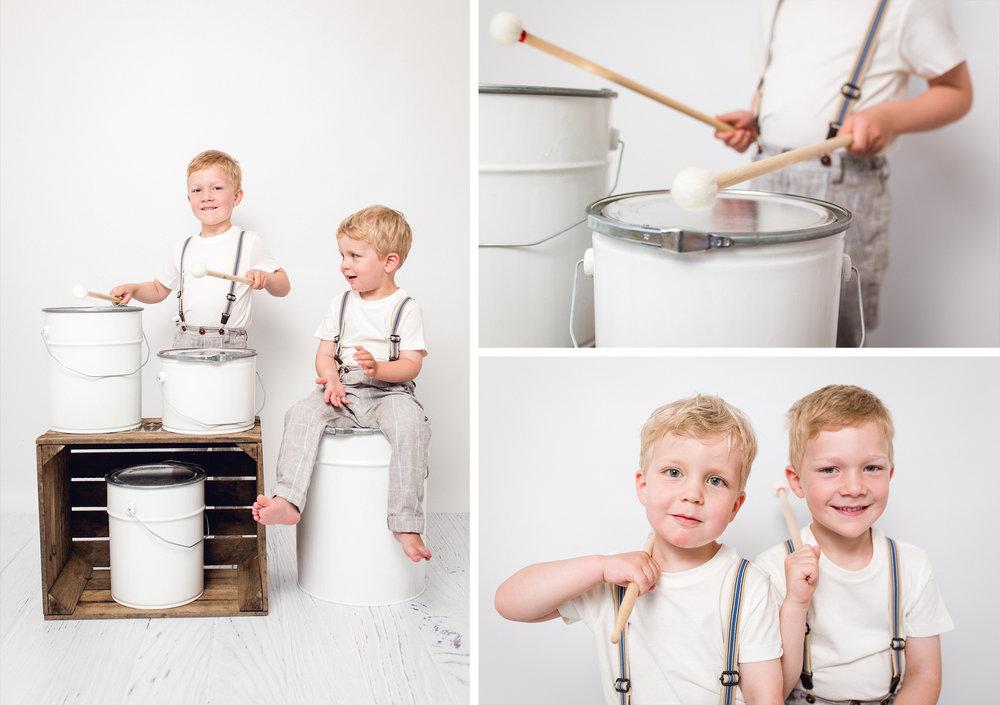 Trommel Setup - Kindergartenfotografie - Schleswig Holstein