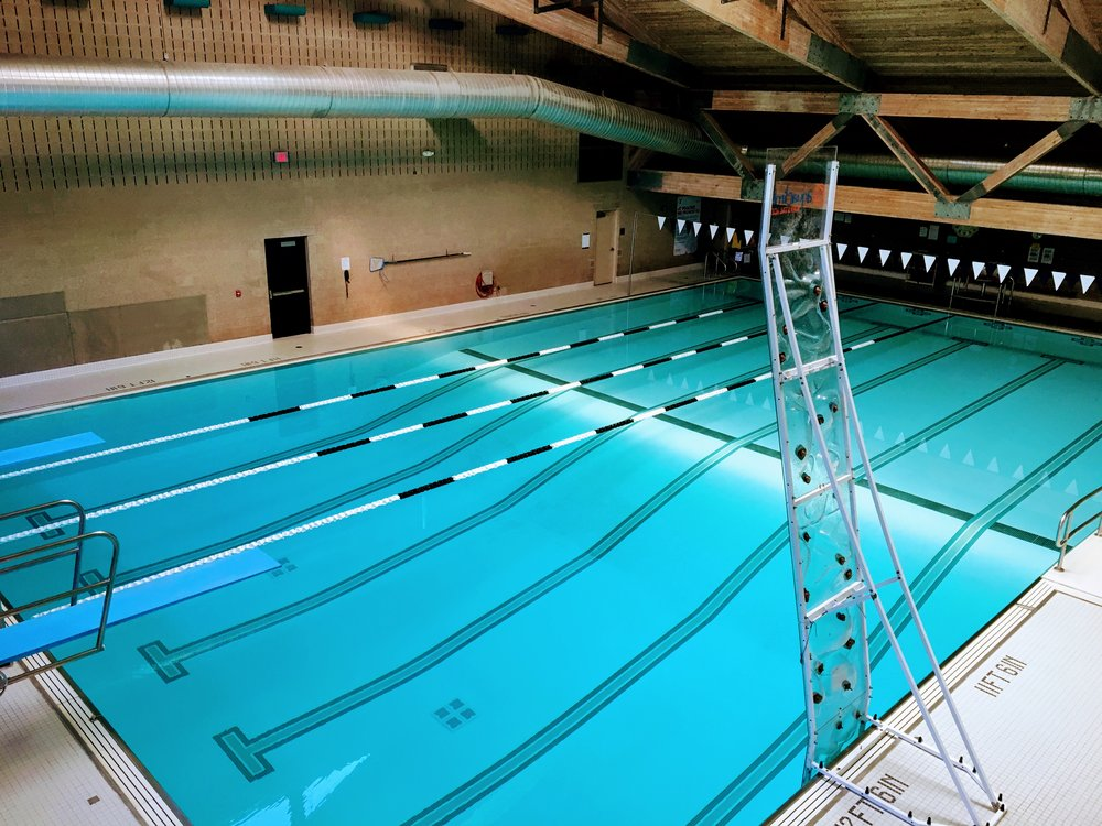 Our six lane swimming pool has two diving boards and a climbing tower.  Swim lessons can be provided individually or in group lessons.