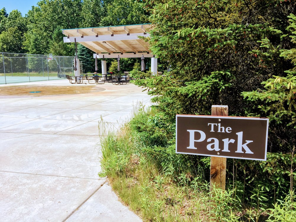 The Park is an outside play space available to members.  A splash pad, pavilion, and playground are available.