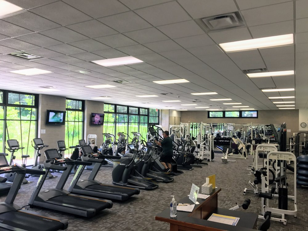 Cardio room and weight room.  We have treadmills, ellipticals, stair stepper, stationary bikes and paramount equipment.