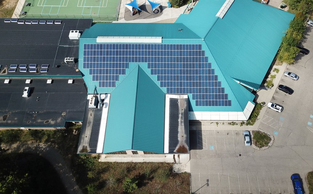 The Sherman Lake YMCA's solar panel array is being installed by Kalamazoo-based Helios, Solar, LLC.