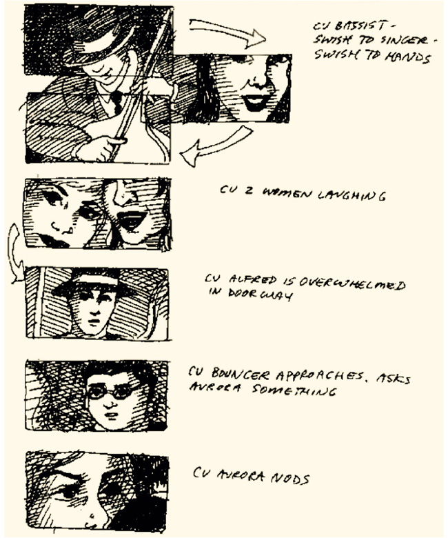 My early storyboards from  Remembrance