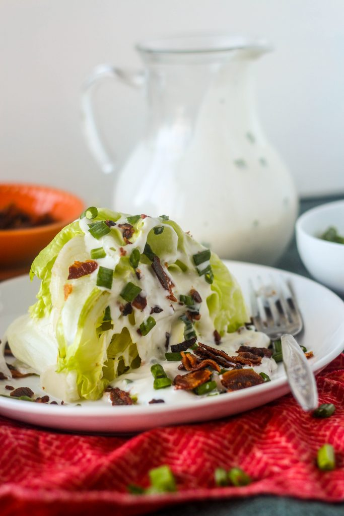 Wedge Salad w/ Homemade Buttermilk Ranch Dressing -