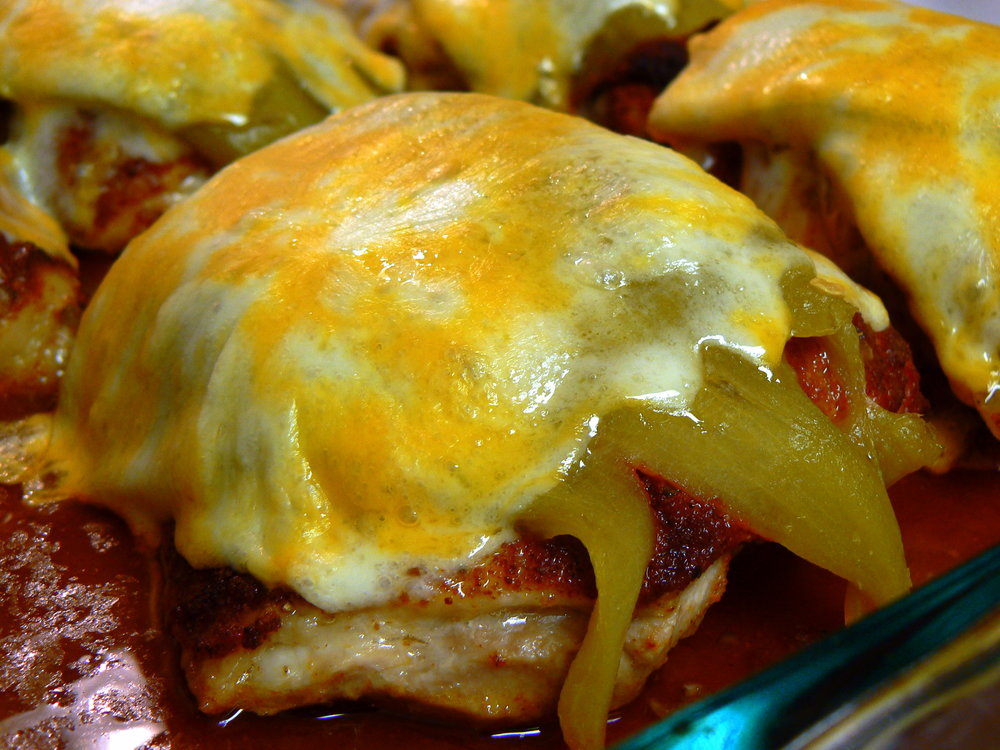 Smothered Hatch Green Chile Chicken  -