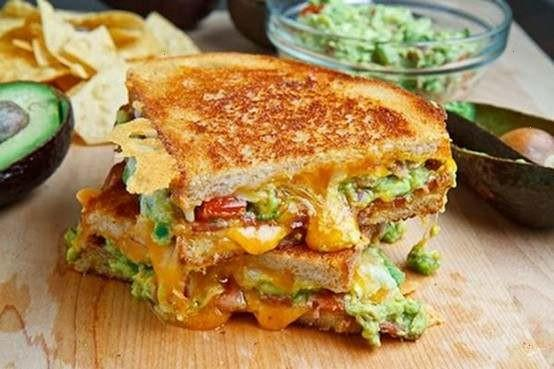 Turkey Bacon, and Avocado Grilled Cheese -