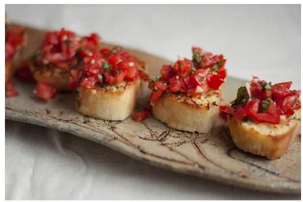 Tomato Garlic Bruschetta -