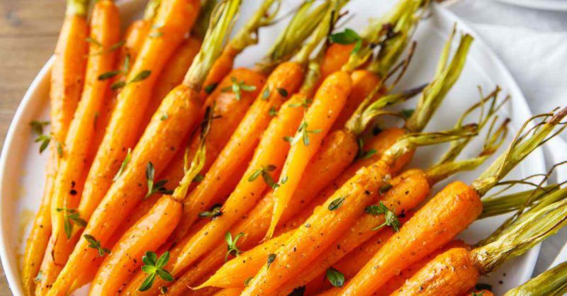 Garlic Roasted Carrots  -