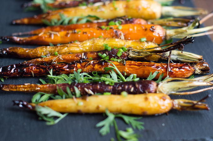 Roasted Carrots with a Balsamic Glaze -